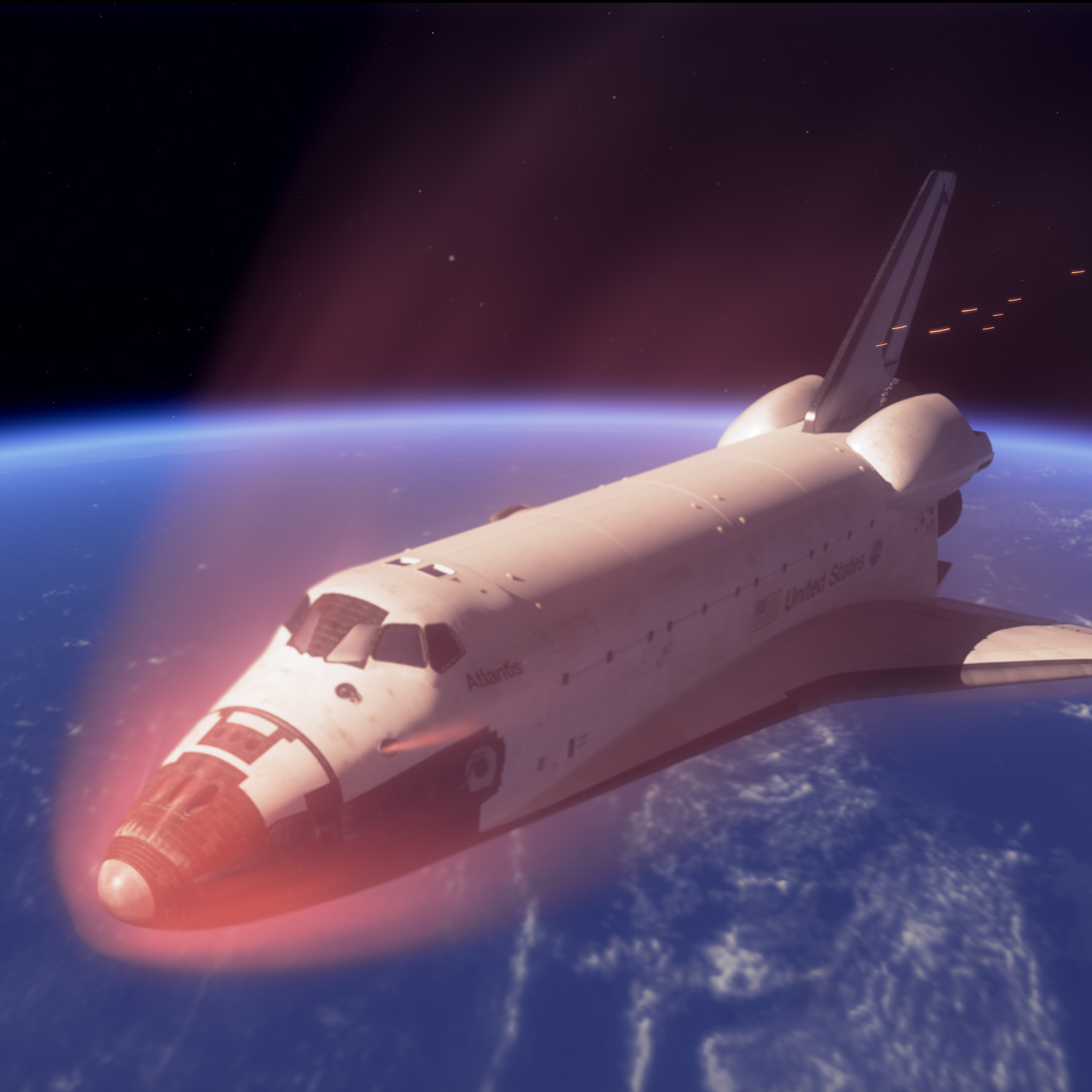 space shuttle re entry angle - photo #30